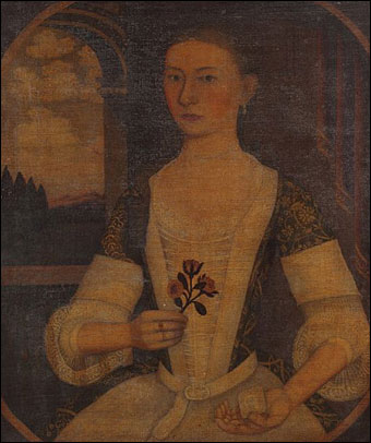Keno Inaugural Auction May 1-2, 2010 - Gansevoort Limner Portrait of Anna Brodhead Oliver, Kingston, New York, circa 1743 brought $1,118,600