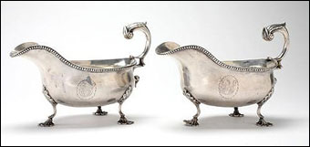 Keno Inaugural Auction May 1-2, 2010 - Paul Revere Jr. Butterboats, circa 1783 brought $190,400