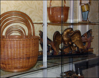 Keno Inaugural Auction May 1-2, 2010 - Nantucket baskets stenciled R. Folger 1880 brought $101,150