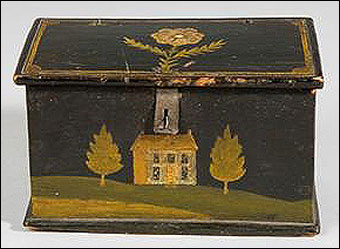 Keno Inaugural Auction May 1-2, 2010 - Jacob or Jonas Weber trinket box dated 1852 brought $7735