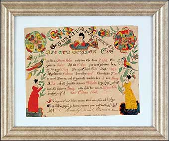 Signs of Spring at Pook and Pook - Daniel Peterman (York County, PA 1797-1871) fraktur sold for $23,700