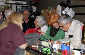 Brandywine River Antiques Market: Chadds Ford, PA - People getting checked out at the front counter.