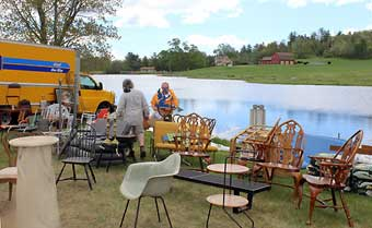 Brimfield Antique Market - A prime spot to set up at Heart of the Mart Antique Show.
