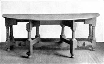 Connecticut Furniture - Section of the largest gateleg table known, cherry, probably made in three pieces, ca. 1650