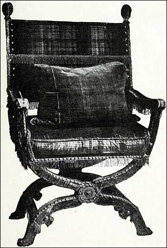 Furniture Styles - Chair used by James I<br>