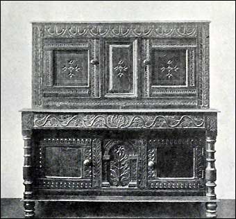 Furniture Styles - Jacobean Cupboard, circa 1620<br>