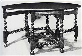 Furniture Styles - Jacobean Gateleg Table, 1680<br>