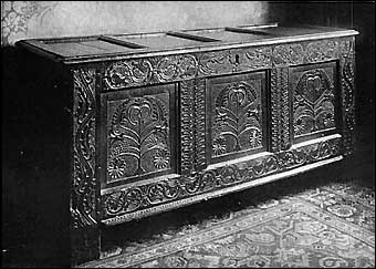 Furniture Styles - Jacobean Oak Chest from Derbyshire, circa 1680-1690's<br>