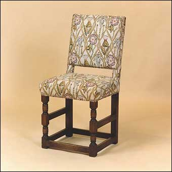 Furniture Styles - Jacobean Cromwellian chair dated 1649 with barley twist turnings<br>