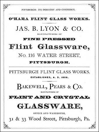 Glass Manufacturing: Pittsburgh, PA - Bakewell, Pears & Co. ad