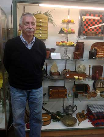 Ivy Hall Antiques: Abbottstown, PA - Michael McCue, newest member of Ivy Hall Antiques and long time dealer at Black Angus