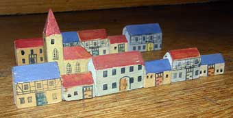 Christmas Toys - 20th Century Erzebirge houses.