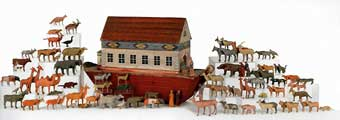 Christmas Toys - A 19th Century Noah's Ark which sold at Pook and Pook January 2012 for $21,330.