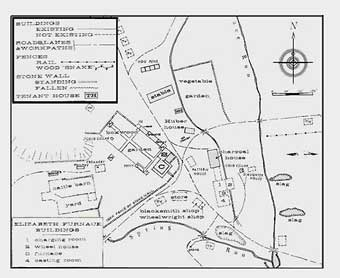 Furnace Plantation - Map of the Elizabeth Furnace Plantation created by Herbert Beck in the 1960's<br>
