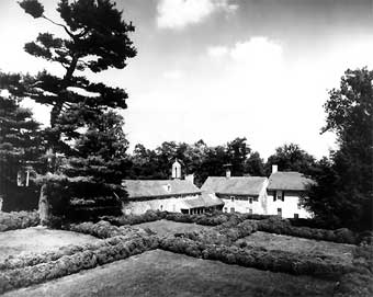 Furnace Plantation - A scene of the formal gardens laid out between 1800 and 1810, photo taken by Mrs G. Dawson Coleman<br>