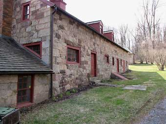 Furnace Plantation - The exterior of the Hessian Prisoner Barracks, photo courtesy of Jeff Martin<br>