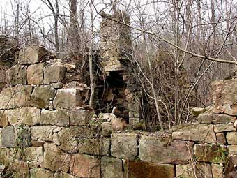 Furnace Plantation - Ruins of a tenant house built between 1750 and 1780, photo courtesy of Jeff Martin<br>