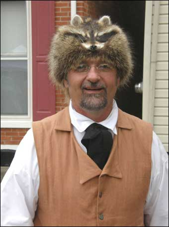 East Berlin, PA Tour - Colonial Man with raccoon cap