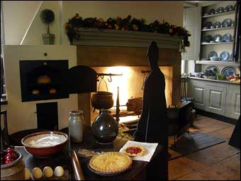 High tech quaker farmhouse historic details for New kitchen cedar grove