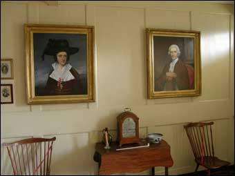 Harriton House - Portrait of Charles Thomson on the right