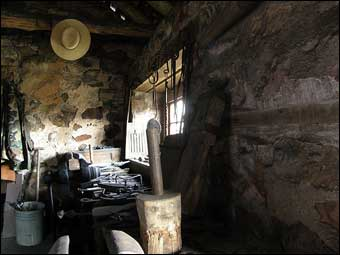 Hopewell Furnace, PA - Inside the blacksmith shop