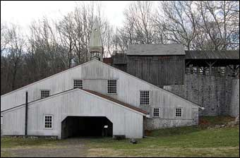 Hopewell Furnace, PA - The Cast House where moulder cast iron into stove plates and other products