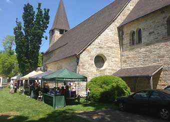 Hunt Country Stable Tour - Trinity Episcopal Church with Country Fair vendors