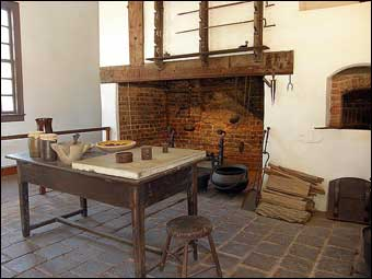 Mount Vernon's South Lane - The Kitchen at Mount Vernon