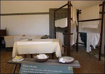 Mount Vernon's South Lane - Interior View of Wash House at Mount Vernon