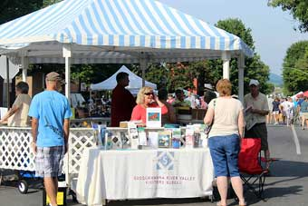 New Berlin Antiques, Arts and Crafts Show - Town Gazebo open for information.