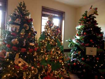 Christmas in Odessa Tour - The Storybook Trees Exhibit at the Corbit-Sharp House