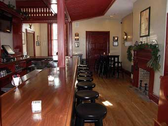Christmas in Odessa Tour - The bar at Cantwell's Tavern Restaurant