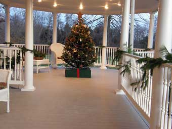 Christmas in Odessa Tour - The Gazebo Deck off the Smith Residence