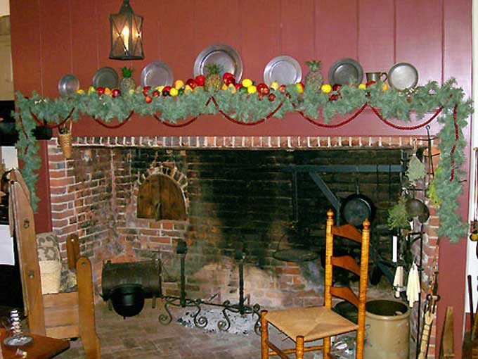 Salem, NJ Yuletide Tour - Fireplace at the Josiah Miller House in Mannington, photo courtesy of Suzanne Cook/Carol Reese