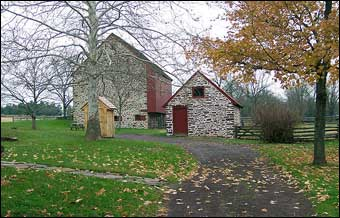 Wentz Farmstead - Reconstructed barn to represent an eighteenth century building