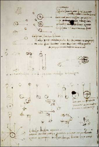 Leonardo's Robot Knight - A page from one of Leonardo's design journals.