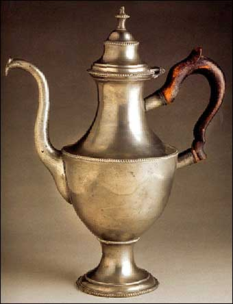 Working with Pewter - Record price paid for a William Will coffee pot of $315,000 at Northeast Auctions in August 2008