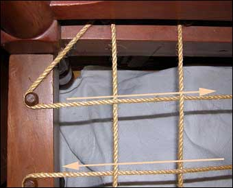 colonial sense how to guides interior bed roping