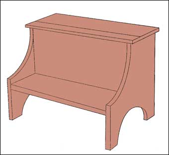Shaker Step Stools Picture