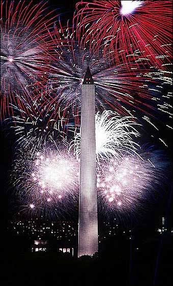 Independence Day - Fireworks surrounding the Washington Monument