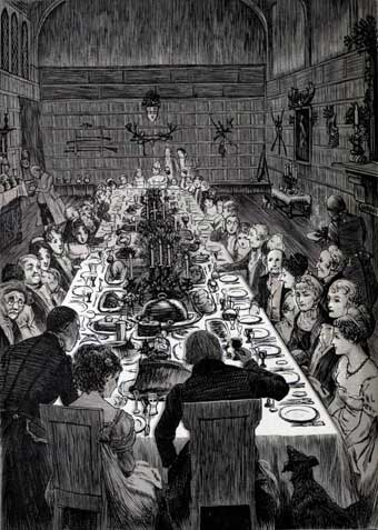 Irving Christmas - Christmas Dinner at an English country manor