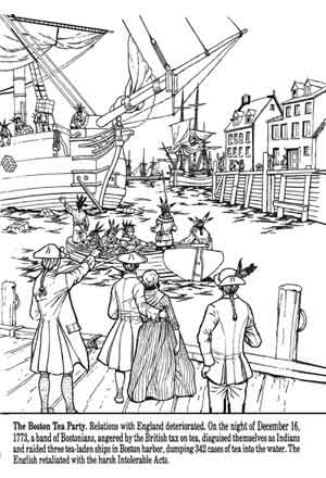 Colonial Coloring Pages Miakenasnet