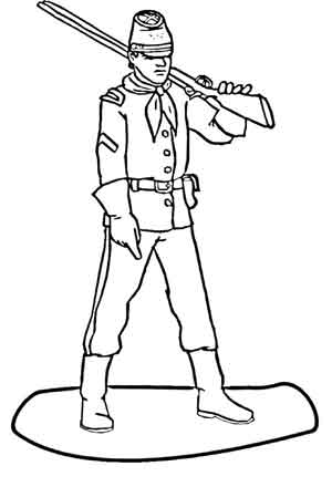 Coloring pages for Colonial coloring pages