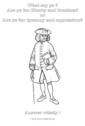 Colonial soldier coloring page pictures to pin on for Colonial coloring pages