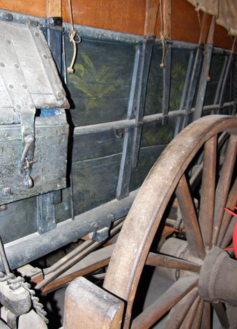 Conestoga Wagon - Closeup photo of a Conestoga wagon, Rough and Tumble Museum