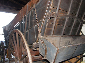 Conestoga Wagon - A Conestoga wagon in a private collection. Notice the feedbox attached to the back of the wagon
