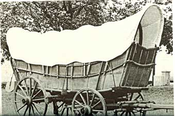 Conestoga Wagon - An old photo of a Conestoga wagon