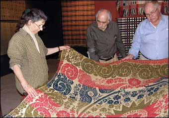 Coverlets - The Civil War era Baltimore coverlet donated to the Museum