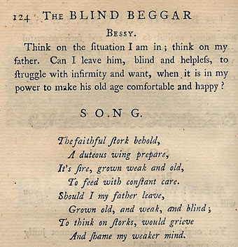 Long S - Blind Beggar of Bethnal Green, Robert Dodsley's Triffles (London 1745)